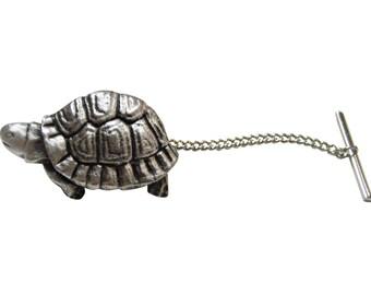 Textured Turtle Tortoise Tie Tack