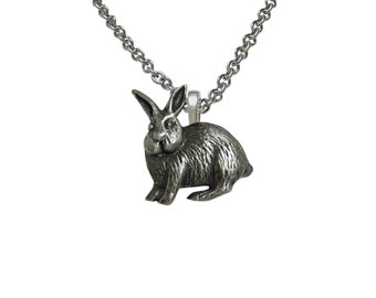 Leaping Hare Rabbit Pendant Necklace