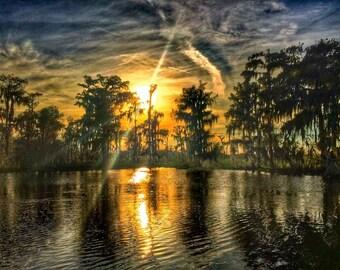 Bayou Black Sunset