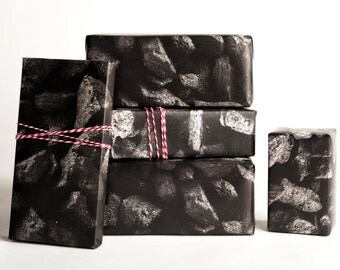 Coal Wrapping Paper / 12 Sheets