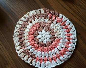Variegated - Crocheted Dishcloth