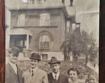 Original Antique Photograph The Family on the Avenue