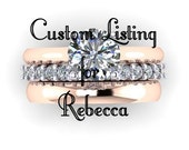 Moissanite Wedding Band for Rebecca