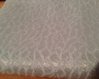 Pastel Blue Shiny Abstract Print Fabric F28