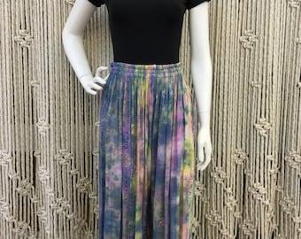 Beautiful 1970's cosmic rainbow gauze harem pants