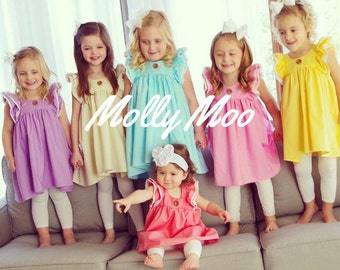 Magnolia Spring dress in sizes 0-3 months through girls size 10