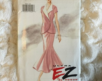 Vogue Ultra EZ Fashion Sewing Pattern Misses Top and Skirt #9026 UC FF size 12-14-16 vintage