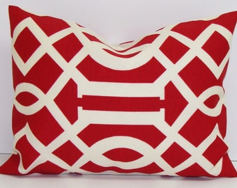 RED PILLOW Sale. 12x16 or 12x18 inch.Pillow Cover.Decorative Pillows.Housewares.Home Decor.Red Lumbar.Indoor.Outdoor.Cushion.cm.Red Outdoor