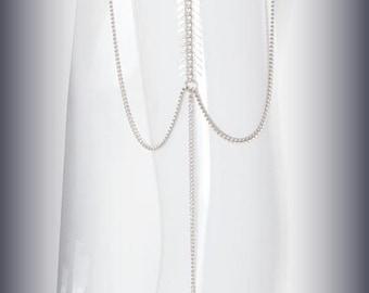 Prom jewelry jewelry accessories,dress Boho Jewelry,Silver Upper Arm Cuff,Upper Arm Band bracelet,Chain Arm cuff, Trendy Jewelry - By PiYOYO