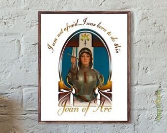 """Joan of Arc Nouveau 8""""x10"""" Print"""