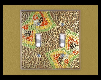 Zen: Marigold - Glass Mosaic Switch Plate