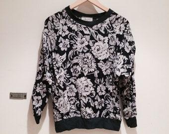 90s floral sweatshirt