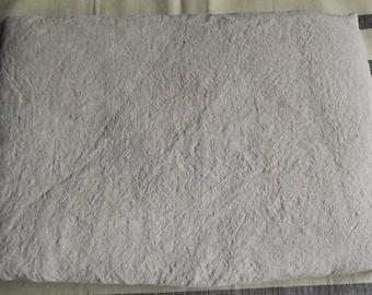 Stonewashed and softened linen bed sheet. Medium beige flat sheet.