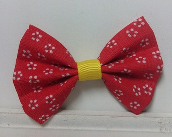 Set of 2 Small hair bow kids small bow Red Flower hair bow baby hair bows