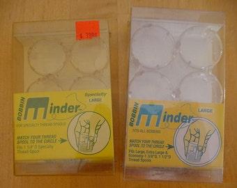 2 VINTAGE Packages Bobbin Minder, Horvath Generations, Size Large