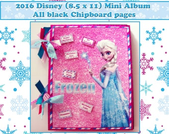 SALE 30.00 was 45.00 Premade album, Disney, Frozen scrapbook,Disney photos, Disney trip scrapbook, Disney Autograph, Disney vacation