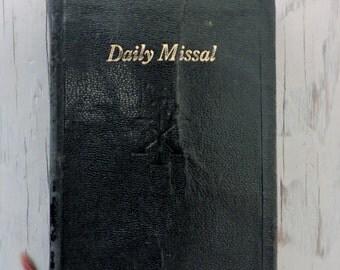 Vintage Leather Missal - Saint Andrew Daily Missal - 1946 - Vintage Prayer Book - Catholic Prayer Book