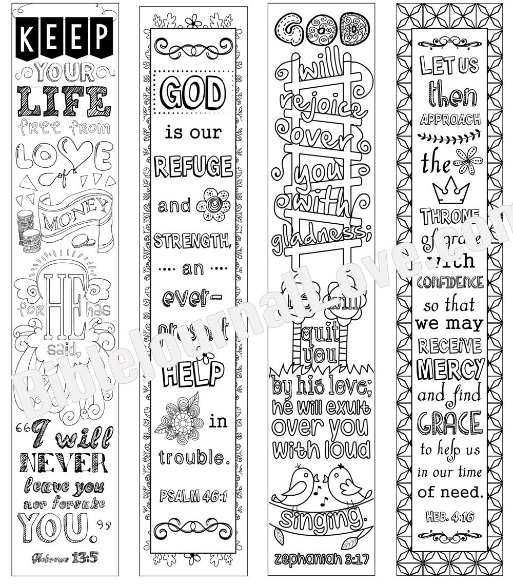 Printable Coloring Bible Journaling