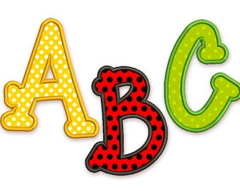 BX font included! Happy Applique Alphabet Font Machine Embroidery Design 4 sizes AL019