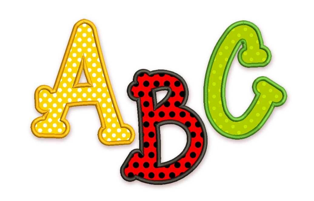 machine embroidery designs applique alphabet font