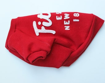 Red Fitch Dog Sweatshirt (Upcycled)