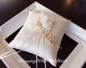ring bearer pillow lace ring bearer wedding pillow personalized ring bearer pillow - Wedding Ring Pillow