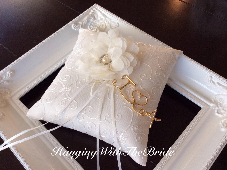 Ring Bearer Pillow Lace Ring Bearer Wedding Pillow