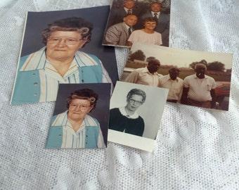 Vintage Photography 1980's Family Photos / Church Lady Group Photographs