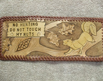 custom mens billfold / squirrel wallet  ( I ship the same day as you order )  (29)
