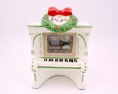 Vintage Piano Music Box Ceramic Christmas Music Box Decoration Santa Claus Is Coming To Town