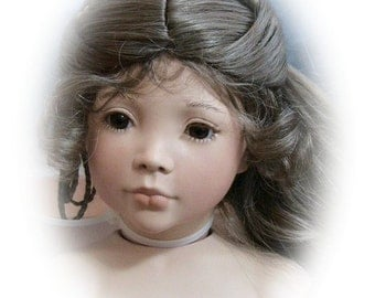 "DIY Reproduction  Porcelain Doll Kit, Alexa. She will be a standing doll, 28"" to 30"" tall.  Mold sculptor was Linda Mason"