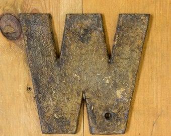 Cast Iron Capital Letter W, Vintage Letter W, Alphabet