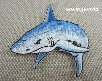 Iron-on Patch, Shark Patch, Embroidered Patch for Jeans, Backpack
