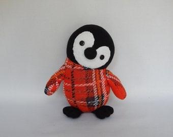 Emperor Penguin Chick Plush Toy, Penguin Plushie, Stuffed Animal, Sock Monkey, Stuffed Toy