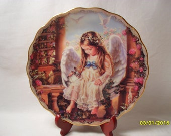 "Tender Touch by Sandra Kuck ""Wings of Love"" Edition Collector Plate"