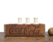 Vintage Home Decor / 1950's / Wooden Coca Cola Sods Crate / Dated 1959