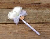 Wedding Guest Book PEN with Custom charm