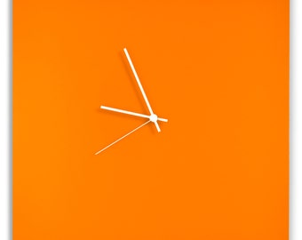 Orangeout Square Clock | Contemporary Metal Wall Clocks, Colorful Modern Décor