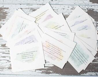 Watercolor Memory Verse Cards
