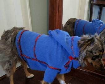 Cashmere dog's sweater , clothing make to order.
