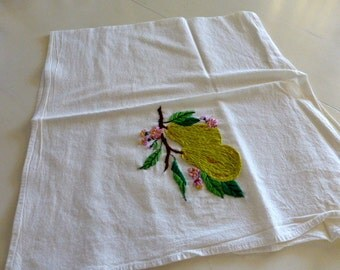 Pair of Vintage Embroidered Dish Towels