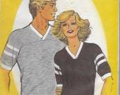 Sew Easy 104 Men's And Ladies Football Jersey, S-XL, UNCUT