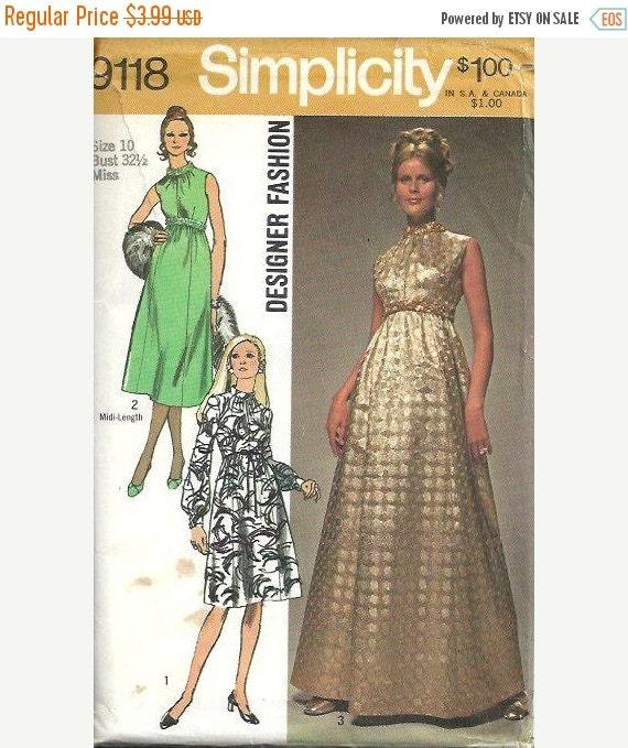 Big Sale Vintage Designer Fashion High Waisted Dress Or