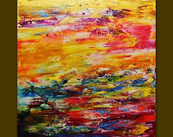 Oil Painting on Canvas palette knife Contemporary colors