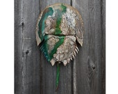 Hand Painted Horseshoe Crab Shell - Tidal Series #2, Dune Time Arts