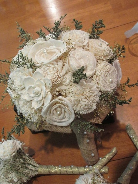 wooden flowers wedding bouquets wedding bouquet ivory sola wood bouquet wood bouquet bridal 1486
