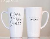 LATTE MUG ~ Future Mrs. Mug, Proposal Mug, Engaged Cup, Engaged Gift, Engaged Latte Mug, Engagement Mug, Bride to Be Latte Coffee Mug MPH106