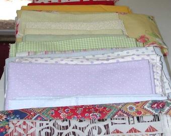 No. 400 . . . 24 Vintage Cotton Fabrics (Predominantly Pastels) (see below)