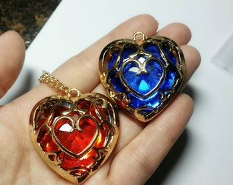 Heart container necklaces skyward sword The legend of zelda geeky gift