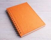 Blank Notebook Sketchbook Art Journal Orange Spiral Bound A5 Recycled